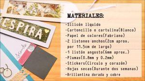 Paso 1 Materiales - Separadores de Libros