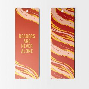 Separador Frase en Inglés Readers never alone