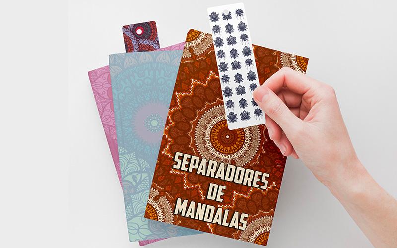 Separadores de Libros Mándalas