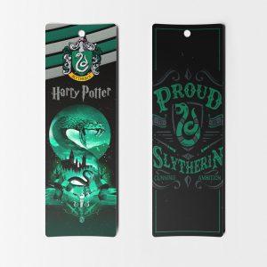 Separadores de libros Harry Potter casa Slytherin miniatura