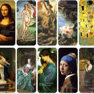 Set de 10 Separadores con Pinturas Famosas y relevantes