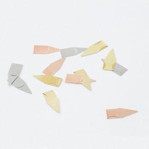 Set de 12 Marcapáginas de metal señaladores minimalista