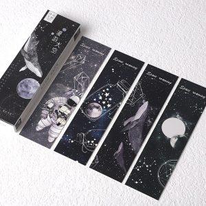 Set de 30 Separadores con diseños tumblr del espacio