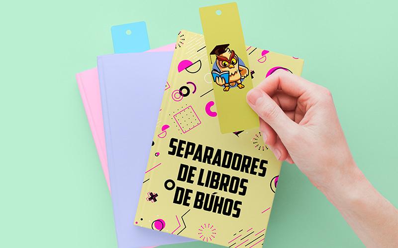 separadores de libros para imprimir búhos