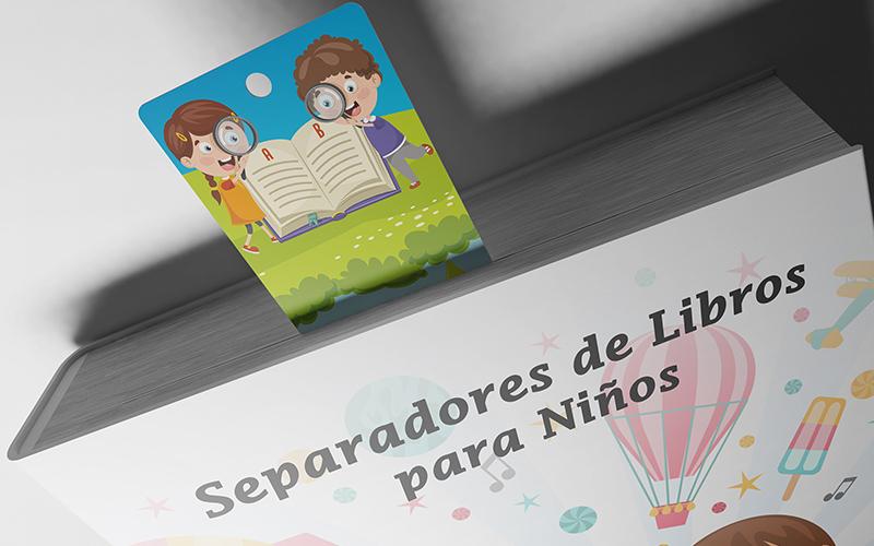 separadores de libros para niños
